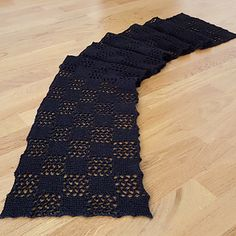 Ravelry: Checkered Lace Scarf pattern by Sybil R