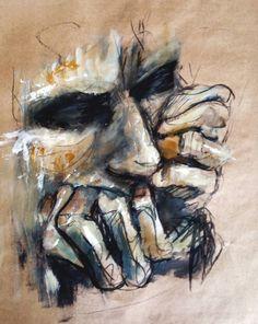 2015 paintings: acrylics, charcoal on paper art boards, human painting, hum Life Drawing, Figure Drawing, Painting & Drawing, Human Painting, Painting Inspiration, Art Inspo, Art Sketches, Art Drawings, Studios D'art