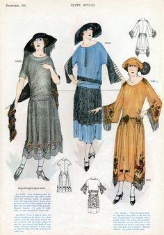 myvintagevogue: December, 1921 Elite Styles.