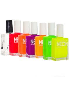 American Apparel Neon Nail Polish. I need this! I've recently fallen in love with nail polish again, especially vibrant colours. Also, have you ever noticed that polish is spelled the same as Polish?