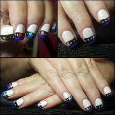 Taking ghostin' to a whole new level! Great work by nail designer Cherish Nuckols.