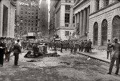 The aftermath of the Wall St. bombing, which left 38 dead and 143 seriously injured, September 16, 1920.