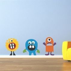 Silly Monster Decal Group 1 Vinyl Wall Art by StephenEdwardGraphic, $32.00