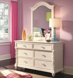 Hannah Dresser and Mirror Combo by Lea Industries