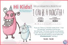 """IF you say """"There is a #monster inside of me!"""", """"I Love Monster"""" workshop is just for you! We think that """"This lovely monster can take photo as well"""".  We have suprising gift for a lucky monster who shares the best photos in social media with #ICanbeamonster"""" hashtag :)  #workshop #holidayfun #besmile #happiness #ichotels  www.ichotels.com.tr"""