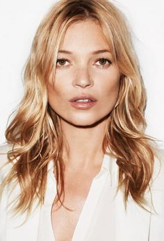 Bow down to the inimitable Kate Moss! Her rock 'n' roll textured hair and iconic pout are nothing short of perfection
