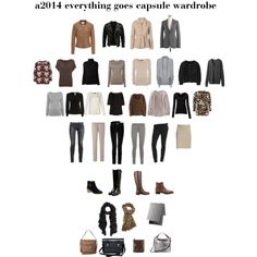 """a2014 everything goes capsule wardrobe"" by lillyicity on Polyvore"