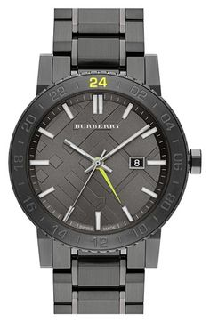 Burberry Check Dial Round Bracelet Watch, 42mm (Regular Retail Price: $795.00) | Nordstrom