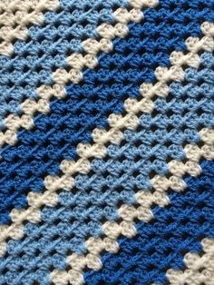 """Finished the crib blanket for our little man when he arrives.   A variety of colours available to suit. Approx 30""""x 30"""". £25."""