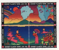 Peter Max Earth Summit 1992 by Astronit, via Flickr