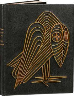 POE (Edgar Allan) The Raven. Paris, aux dépens de Pierre Vorms, 1952. Binding:  René Kieffer
