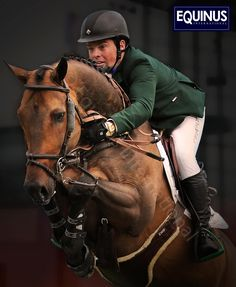 """Ireland's Olympic Bronze Medalist Cian O'Connor aboard """"Cooper""""   Equinus Intern. Kent Farrington, Grand Prix, Equestrian, Olympics, Riding Helmets, Two By Two, The Incredibles, Horses, Sports"""