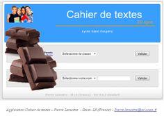 Pâques : Un cahier de textes « Chocolat » licence GNU ou Chocolaware |