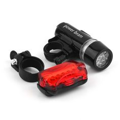 1Set 5 LED Water Resistant Bike Bicycle Head Light Rear Safety Flashlight Bracket Newest