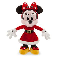 Santa Minnie Mouse Plush - Small - 9''