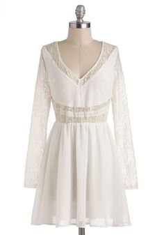 White Winged Love Dress, #ModCloth