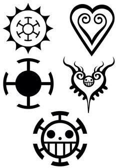 Los diferentes tatuajes de Law