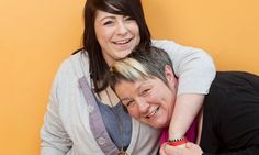 Mother's pride ... Anstey Spraggan with her daughter Lucy, 19, who came out when she was 14. Photograph: Fabio de Paola