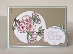 Stampin Alley - Pastel Indescribable Gift using Stampin Up Indescribable Gift Stamp Set, and Blendabilities