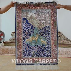 Yilong 2'x3' Hand knotted oriental carpet handmade exquisite persian rug gallery (1165)
