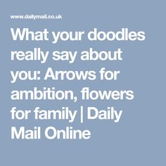 what your doodles really say about you arrows for - 236×236