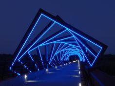 High Trestle Trail bike bridge, by night!