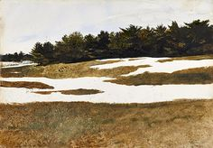 Andrew Wyeth (1917 — 2009, USA) Hill Drifts. 1971 watercolor on paper.