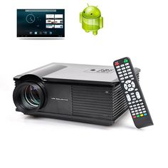Proyector LED Dual Core - 3200 lúmenes, CPU de 1,4 GHz, Android 4.2 OS, 1G RAM, soporte Wi-Fi