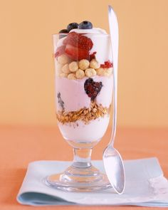 "These all-hours ""sundaes"" are filled with yogurt, fruit, and cereal."