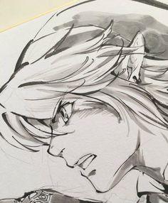 The Legend Of #Zelda #Dessin sur #Shikishi #AkiraHimekawa #Mangaka #JeuVideo