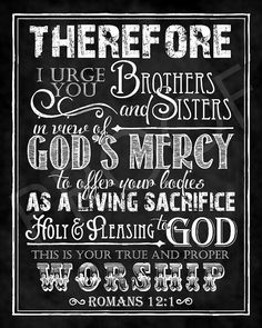Scripture Art  Romans 121 Chalkboard Style by ToSuchAsTheseDesigns, $15.00