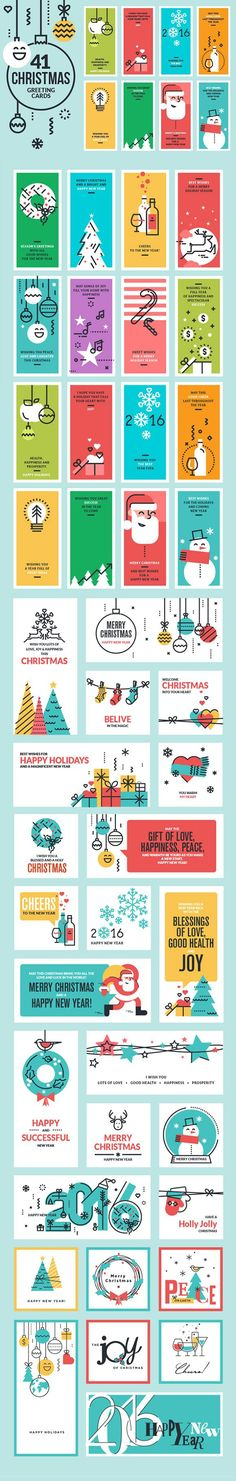 Christmas Cards and Banners Bundle. Christmas Icons. $20.00