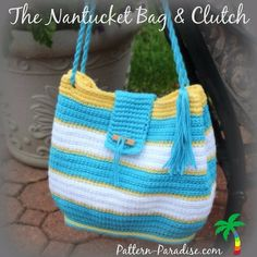 New pattern release! The Nantucket Bag is now available in my Ravelry shop-ON SALE.  #patternparadise #crochet #bag #tote #pattern