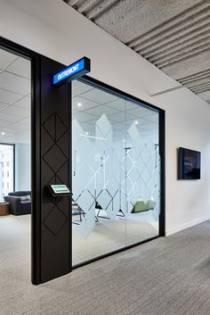Montreal FinTech Station Office by VAD. – Office Snapshots - commercial office interior o Office Cabin Design, Corporate Office Design, Dental Office Design, Corporate Interiors, Office Interior Design, Office Interiors, Office Wall Graphics, Window Graphics, Window Design