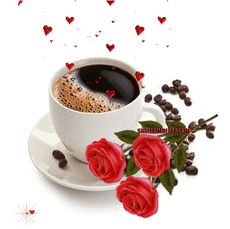 Good Morning Coffee, Good Morning Gif, Good Morning Flowers, Happy Birthday Wishes Cake, Happy Birthday Husband, Coffee Gif, Coffee Images, Dove Pictures, Angel Pictures