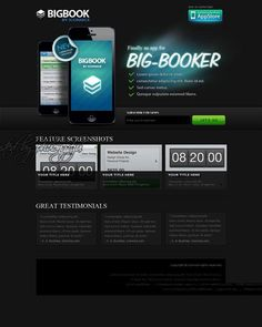 Black Big Booker - iPhone web templates