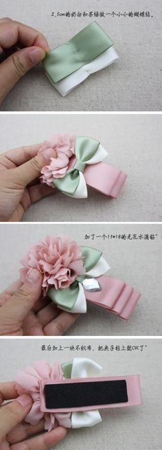 Diy Baby Headbands Ribbon How To Make Bow Tutorial 38 Trendy Ideas Diy Ribbon, Ribbon Work, Ribbon Crafts, Flower Crafts, Ribbon Flower, Ribbon Hair, Diy Crafts, Hair Bow Tutorial, Flower Tutorial