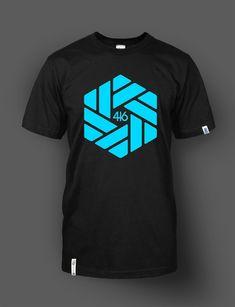 T-shirt (blue Tire pattern) 416 Wear
