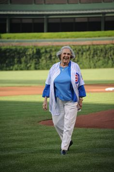 Dutchie Caray - got to watch her throw the first pitch! :)