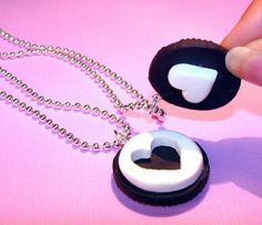 Best Friend Necklaces Oreo Necklaces by kawaiidesune on Etsy