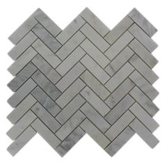 $17.97. Oriental Sculpture Herringbone 12 in. x 12 in. Marble Mosaic Floor and Wall Tile