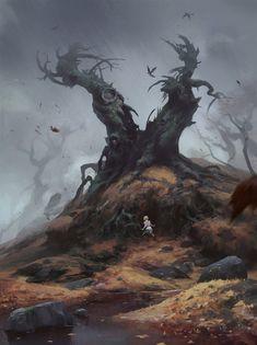 Tree monster, Nicholai Litvinenko on ArtStation at https://www.artstation.com/artwork/VBL5N