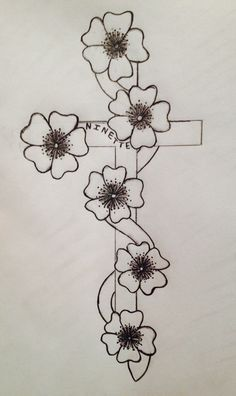 Except for this one. The idea came from my head and I looked at a picture to do the flowers