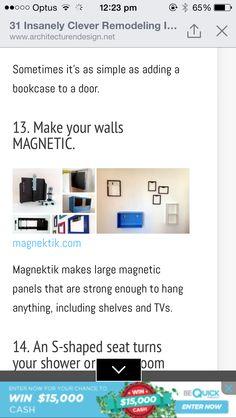 Magnetic walls