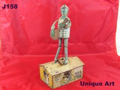 VINTAGE ORIGINAL WIND UP JAZZBO JIM UNIQUE ART TIN LITHO TOY DANCER ON THE ROOF #UniqueArt!!!  WOW  COOL ITEM!!!!!  ON AUCTION THIS WEEK!!!