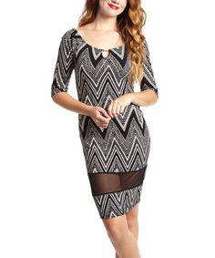 Look at this #zulilyfind! Black & White Zigzag Scoop Neck Dress - Women & Plus #zulilyfinds