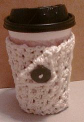 Ravelry: Button Coffee Mug Wrap pattern by Stacey McGraw