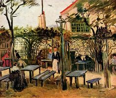 Guinguette at Montmartre - Paris 1886 Vincent Van Gogh
