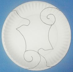 Little Stars Learning: Seahorse Paper Plate Craft w/template
