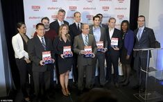 Also on Tuesday afternoon, William and de Blasio handed out  awards and posed with  the winners of the GREAT Tech Awards